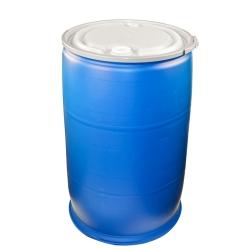 55 Gal Plastic Drum Blue Open Top